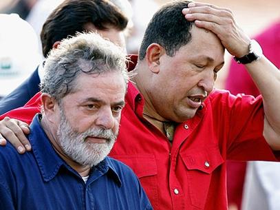 Lula e Chávez em Recife, em 2008 (Foto: AFP)