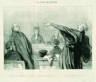 Les Gens de Justice, do satírico Honorè Daumier, morto em 1879.