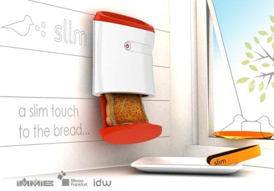 Esta tostadora de pan se pega a la pared y casi no ocupa - Tostadora diseno ...