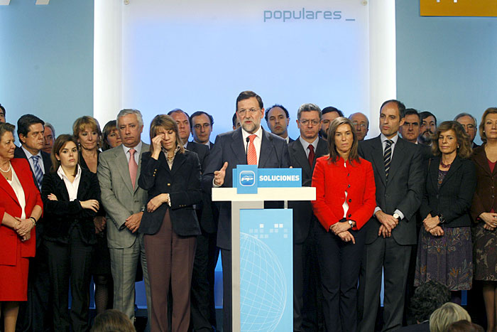 Rajoy y el PP. Fuente:efe.es