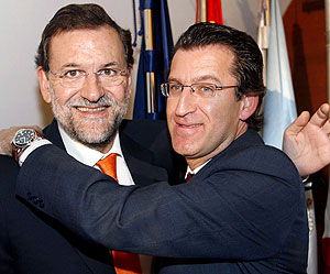 Feijo y Rajoy. Fuente:elcorreogallego.es